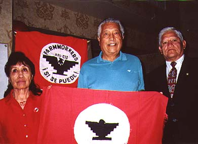 Cesar chavez flag eagle